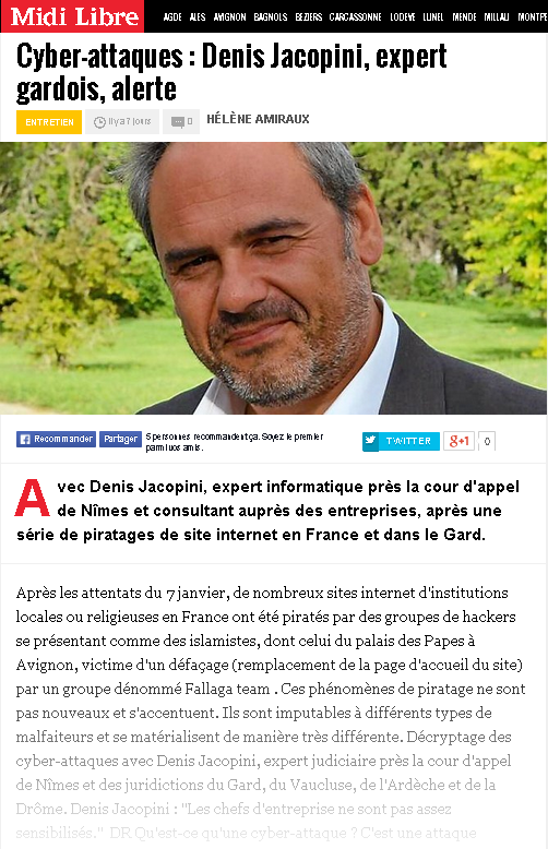 Attention aux cyber attaques