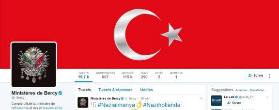 Le compte Twitter officiel de Bercy a été piraté mercredi 15 mars.