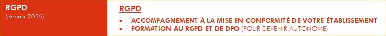 """RGPD """" ACCOMPAGNEMENT À LA MISE EN CONFORMITÉ DE VOTRE ÉTABLISSEMENT """" FORMATION AU RGPD ET DE DPO (POUR DEVENIR AUTONOME)"""